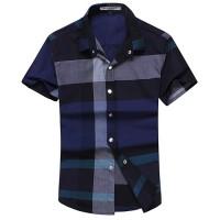 时尚拼色短袖衬衫[2色]