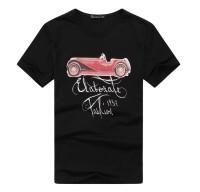时尚小车英文字母短袖T恤[2色]