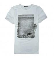 英伦风时尚印花图案短袖T恤[2色] CTB1201