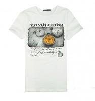 学院风百搭钟表印花短袖T恤[2色] CTB1203