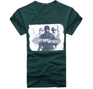 第二次世界大战印花短袖T恤