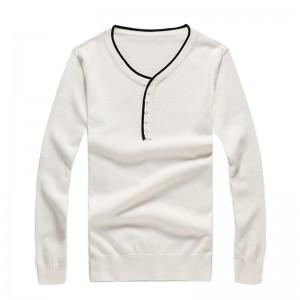 秋冬长款V领毛衣[3色] 30006